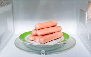 Как приготовить сосиски в микроволновке